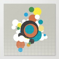 bubbles Canvas Prints featuring bubbles by Heinz Aimer