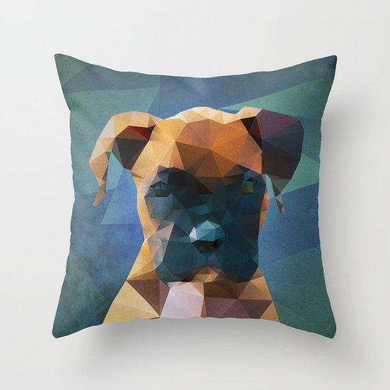 The Boxer - Dog Portrait Throw Pillow