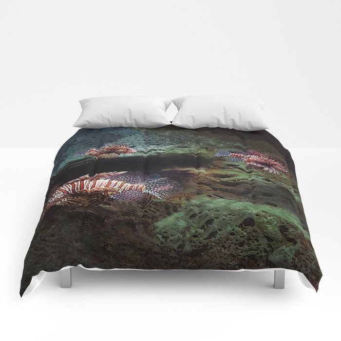 Everything's Fine on the Lion Fishway Comforters