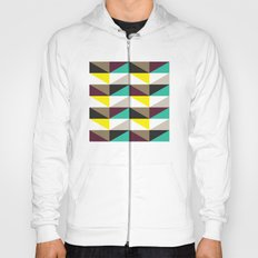 Yellow, purple, turquoise triangle pattern Hoody