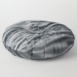 Ocean Magic Black and White Waves Floor Pillow