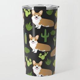 Welsh Corgi cactus southwest desert dog breed corgis gifts Travel Mug