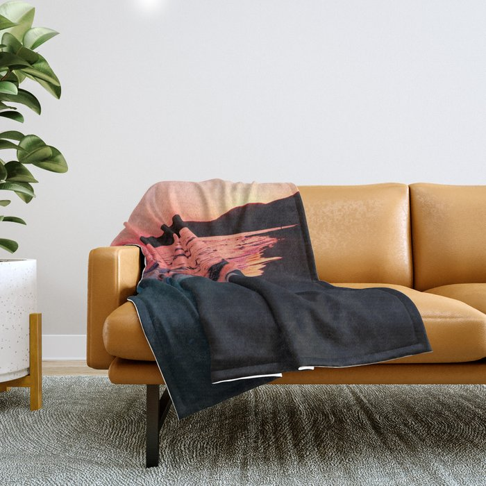 A bold Sunset Throw Blanket