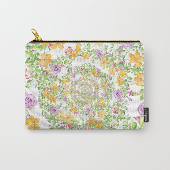 Floral Hypnosis Carry-All Pouch