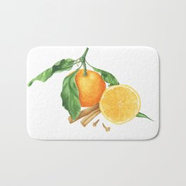 Tangerines and spices Bath Mat