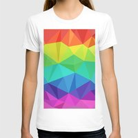 low poly T-shirts featuring rainbow low poly by tony tudor