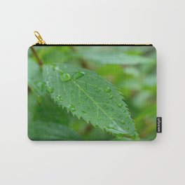 Leaf With Raindrops Carry-All Pouch