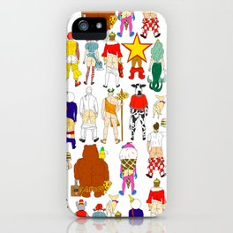 Fast Food Butts Pattern iPhone Case