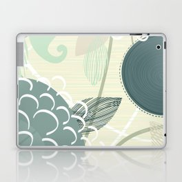 Abstract Floral Blue by Friztin Laptop & iPad Skin
