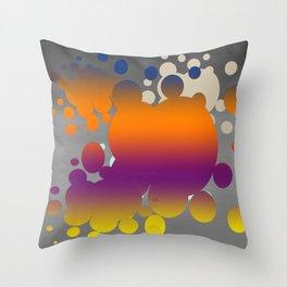 Orange paint splats Throw Pillow