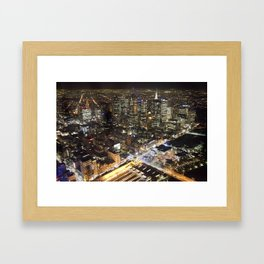 Melbourne By Night Framed Art Print