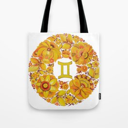 Gemini in Petrykivka Style (without artist's signature/date) Tote Bag