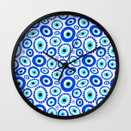 Evil Eye Mediterranean Lucky Symbol Wall Clock