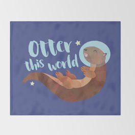 Otter this world! Throw Blanket