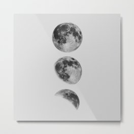 Moon Phase Wall Art Moon Home Decor Moon Phases Nursery Decor Poster Minimalist Print Gothic Boho Metal Print