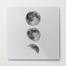 Moon Phase Wall Art Moon Home Decor Moon Phases Nursery Decor Poster Minimalist Print Gothic Boho Metal Print
