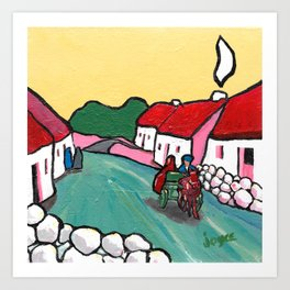 The West of Ireland - Off to the market Art Print