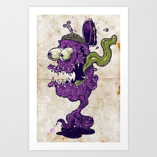 Worm Fink Art Print