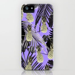 Tropical Pineapple Jungle Geo #4 #tropical #summer #decor #art #society6 iPhone Case