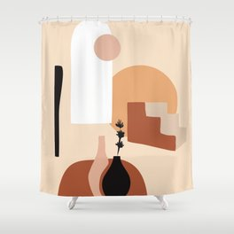 Abstract Elements 18 Shower Curtain