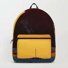 Lighthouse Mountain lit from Afar Backpack