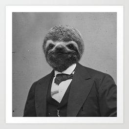 Gentleman Sloth 12 Art Print