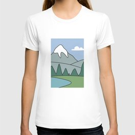 Landscape from the living room of the Griffin family #2 T-shirt