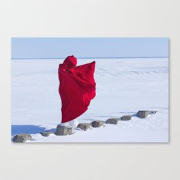 winer girl Canvas Print