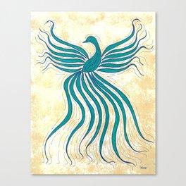Phoenix Bird Flutter Canvas Print