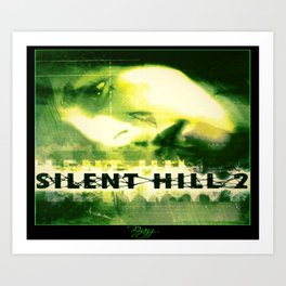 Silent Hill 2 - Ps2 Green Box Art Art Print