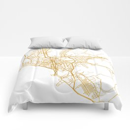 LIMA PERU CITY STREET MAP ART Comforters