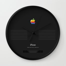 Luxury black vintage phone Wall Clock