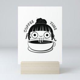 Coffee Girl Mini Art Print