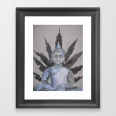 Seated Buddah Framed Art Print