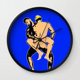 Blue Boyz Club Wall Clock
