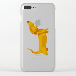 Origami Basset Clear iPhone Case