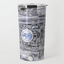 Hot Rod Blue, Automotive Art with Lots of Chrome by Murray Bolesta Travel Mug