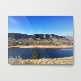 Horsetooth Reservoir Fort Collins Colorado Color Photo Metal Print