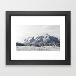 Frosty Flatirons Framed Art Print