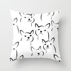 Mate,Friends,French bulldog Throw Pillow