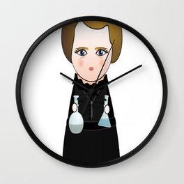Kokeshi Marie Curie Wall Clock