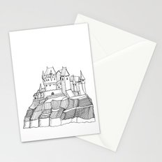 Castle on the cliff Stationery Cards