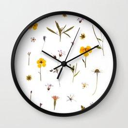 Wild flower meadow Wall Clock
