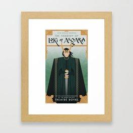 The Tragedy of Loki of Asgard Framed Art Print