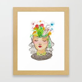 Clutter Brain Framed Art Print