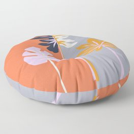 Double-sided leaves Floor Pillow