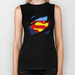 superhero torn - SuperMan Biker Tank