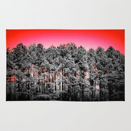 Gray Trees Candy Apple red Sky Rug