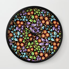 Filigree Floral smaller scale Wall Clock