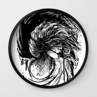 florence Wall Clocks featuring Florence by Kate Plourde